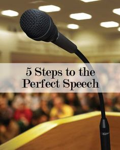 Check out these 5 steps to giving the perfect speech and how to build confidence!  #publicspeaking #tips #confidence
