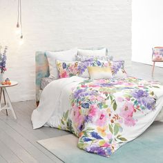 Feel good watercolour designs from bluebellgray. Bring colour and design into your life with modern and abstract floral bedding, cushions, fabric & home accessories by Scottish designer Fiona Douglas. Cute Duvet Covers, Super King Duvet Covers, Double Duvet Covers, Single Duvet Cover, Duvet Cover Sets, Duvet Bedding, Linen Bedding, Bedding Sets, Bed Linen