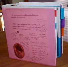 Homeschool Planner. Homeschool Scheduling in a Notebook or Binder.