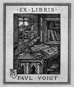 Ex libris con ventana.