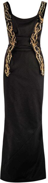 vivienne westwood Embroidery Panel Detail Fluted Gown - Lyst
