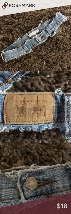 "Upcycled LEVI'S ""Belt""! This is the coolest creation!  A belt!  Perfect to cinch a shirt dress or tunic.  It's an old distressed Levi's jeans waistband, complete with rivets and the metal button.  Also still attached:  that brown rectangle, Levi's horse & buggy logo patch thing.  (Is there a term for that thing?  Anyway, you know what I mean. Ha!)  Light wash, soft, well-worn. Levi's Accessories Belts"