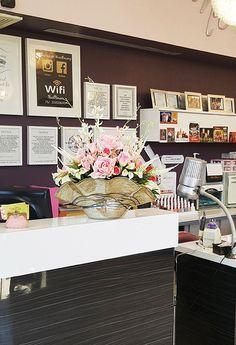 Floral Arrangement at Nail Salon