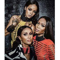 16366852f59a41 Rihanna,Iman and Naomi Campbell Couleur Cheveux, Cheveux Crépus, Belles  Femmes Noires,