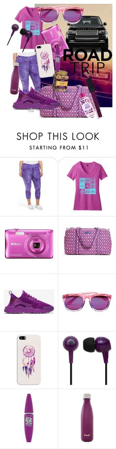 """Road Trip"" by samiandrenee on Polyvore featuring Nikon, Vera Bradley, NIKE, Wildfox, Casetify, Skullcandy, Maybelline, S'well, Smashbox and Pink"