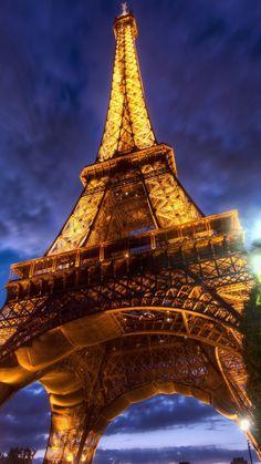 sky, eiffel tower, paris, france, night light