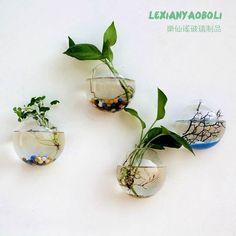 """Wanddeko - 4 Stück 5 """"Wand Blase Terrarium / Innenwandglas Pf - ein Designerstück von CHAMPION-CRAFTS bei DaWanda"""