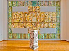 """Inferno"" by Irena Lisiewicz. Art object.  Inspiration:  ""The Divine Comedy"" by Dante Alighieri. Original contemporary art. Medium: acrylic on MDF board. Dimensions: 27"" x 15""."