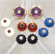 Joan-Rivers-Multi-Color-Interchangeable-Gold-Tone-Pierced-Earrings