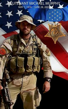 Honoring Navy SEAL LT Michael Murphy who selflessly sacrificed his life ten years ago today during Operation Red Wings in Afghanistan for our great Country. Please help me honor him so that he is not forgotten. Danny Dietz, Marcus Luttrell, Chris Kyle, Military Police, Usmc, Marines, Military Quotes, Military Spouse, Special Ops