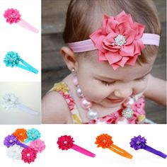 Excelent 6 Piece/ a lot Lovely Lotus Flower Hairband Crystal Babys Girls Headband Wear Bebe Girl Head Accessories Free Shipping #>=#>=#>=#>=#> Click on the pin to check out discount price, color, size, shipping, etc. Save and like it!