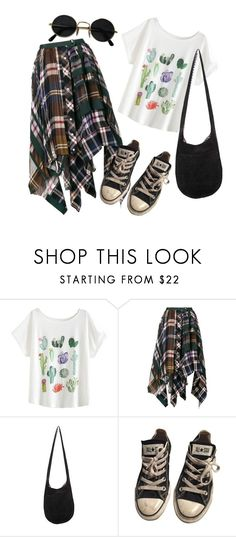 """""""🌵 cactus"""" by a-black-pansy on Polyvore featuring Sacai and Converse"""