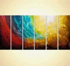 """original abstract painting earth painting Restless Earth 72""""x36"""" by Osnat #Abstract"""
