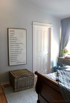 The Inspired Room Love Is Patient Art and Pillow Basket.....I have spotted this treasure on soooo many blogs and even on my favorite HGTV show...Fixer Upper...I am going to challenge myself to make my own.  Wish me luck.