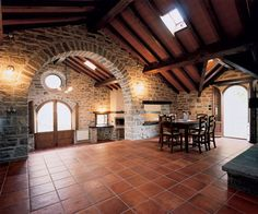Love the whole inside structure and those terracotta floors, my style!