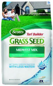 Scotts 17840 Turf Builder Midwest Mixing Bag, 3-Pound (Not for sale in Louisiana) by Scotts. $16.25. Keeps moist 2x longer than uncoated seed. Grows in thick to help keep out dandelions and crabgrass. Developed to thrive in the challenging midwest conditions. Seeds up to 1300 sq ft. Get early seeding success with less water. Absorbs 2x more water than uncoated seed. Developed to thrive in challenging Midwest Conditions. Scotts Turf Builder Midwest Grass Seed Mix helps you ge...