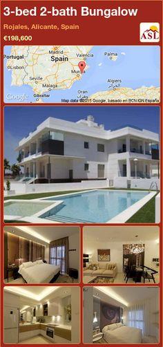 3-bed 2-bath Bungalow in Rojales, Alicante, Spain ►€198,600 #PropertyForSaleInSpain