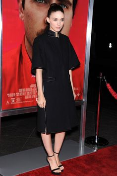 Rooney Mara wore top-to-toe Givenchy by Riccardo Tisci.