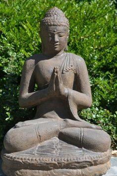 Boeddha Beeld Gietsteen Bronze 60 cm