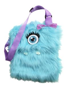 Turquoise Monster Fur Crossbody | Fashion Bags | Bags & Totes | Shop Justice