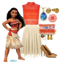 """Moana"" by disney522e ❤ liked on Polyvore featuring Suzy Levian, Dee Keller, River Island, J.Crew and Les Néréides"