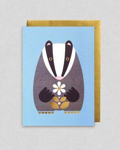 Gold Badger greeting card