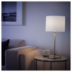 IKEA - ALÄNG Table lamp nickel plated, white