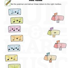 Fun and Learn Music - Fun Music Worksheets and Games for Music Theory Music School, Music Class, Music Education, Music Math, Music Writing, Piano Lessons, Music Lessons, Music For Kids, Good Music