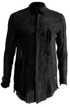 Visions of the Future: LEON LOUIS | Slit linen shirt.