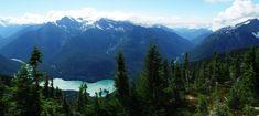 Diablo Lake from Sourdough Mountain Trail (North Cascades)  photo by Michael Hiller, Stanford University