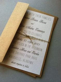 Rustic Vintage Wedding Invitations This is simple and clean.  Can play with fonts to make more rustic and country.  Can also add (autumn) colors to fit our theme...