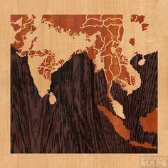 Woodcut Maps - cool.