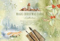 Magic Winter Watercolors. SALE by Eva-Katerina on @creativemarket