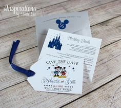 Disney Save the Dates by InspirationsbyAmieLe on Etsy