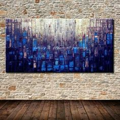 Hand Painted Canvas Oil Paintings Modern Abstract Palette Knife Oil Painting On Canvas Wall Picture For Living Room Home Decor