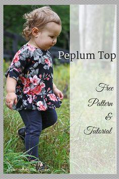 This week I made a little peplum top out of some floral ponte from Girl Charlee. Thisparticular ponte was light andflowy,and it worked nicely for this project. A heavier ponte would also work though, or even a light weightFrench terry. The 3/4 length sleeves have a little slit for some added detail. Thistop isanother example of how you can modify a simple bodice pattern …