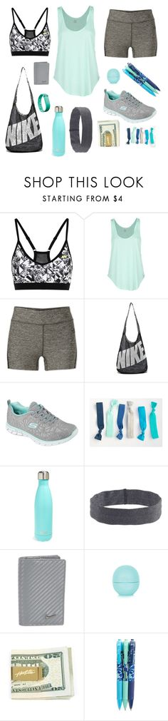 """Untitled #56"" by abbystar8 ❤ liked on Polyvore featuring NIKE, Rip Curl, The North Face, Skechers, S'well, J.Crew, Fitbit, Topshop and Vera Bradley"