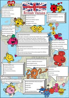 British values poster with Mr Men - http://www.mathematicshed.com/miscellaneous.html: