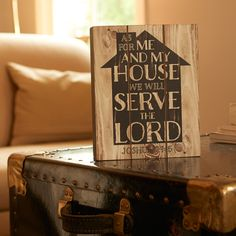"""As For Me and My House"" Wall Plaque 