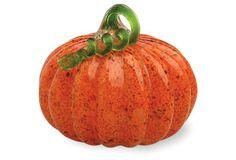 Glass Pumpkin, Orange