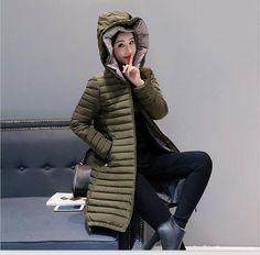 Fashion coat women parka long 2017 winter jacket women coats and jackets hooded outerwear slim ladies coats red