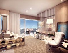 Ilustração artística do apartamento de 55m2, no melhor do Brooklin. Para morar ou investir. #Follow gafisa.com.br/follow