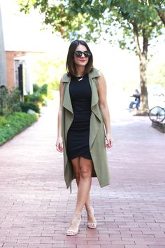 How to style a duster, topshop duster and black dress via @mystylevita {My Style Vita}