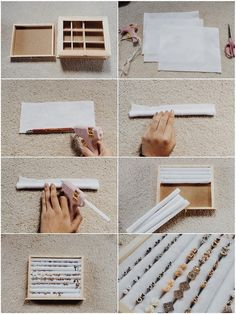 "collegeappsarescary: "" DIY Stud Earring Holder/Organizer """