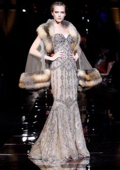 Runway Fashion   Art deco Beaded 1930's Gown   Gatsby Dress   Vintage Wedding Inspiration