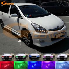 For TOYOTA WISH 2005 2006 2007 2008 2009 Excellent Angel Eyes kit Multi-Color Ultra bright RGB LED Angel Eyes Halo Rings