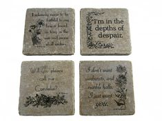 Anne of Green Gables quote coasters. Super cute idea for the Anne-obsessed!