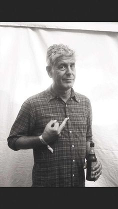 Anthony Bourdain! Chef, Author, and TV host.