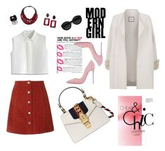 """Redandroll"" by yehuda-eti on Polyvore featuring Fairchild Baldwin, Max & Moi, Chicwish, Gucci, Dolci Follie, Carla Zampatti and Christian Louboutin"