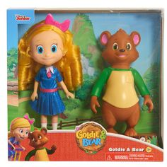 Now you can take your favorite pair of pals home with you with the adorable Goldie and Bear Doll Set from the popular Disney Junior series, Goldie and Bear!! The set features an 8.5 inch Goldie Doll dressed in her fun sparkle outfit from the special Birthday Episode. Goldie's lovely and easy-to-style gold locks come decorated with her signature oversized bow! The set wouldn't be complete without Goldie's cuddly best friend Bear! This 8 inch plastic Bear figure is dressed in his favorite…